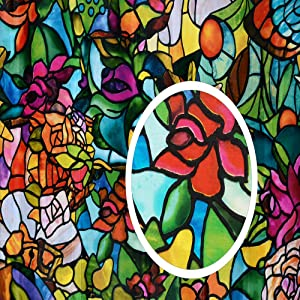 d-c-fix 346-0647-4PKA Self-Adhesive Privacy Glass Window Film, Spring Chapel/Tulia, 17