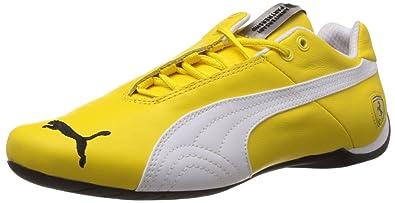 Puma Men s Future Cat Leather SF -10- Vibrant Yellow-White Leather Sneakers  - cbbf52c03