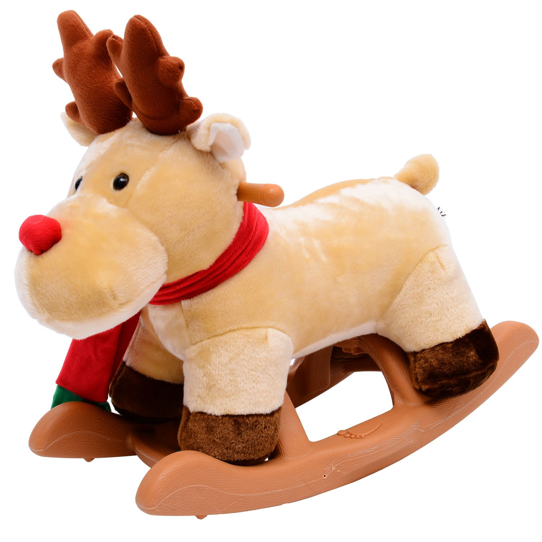 Children Kids Rocking Toys Rudolf Reindeer Seat Toddlers Baby Toy