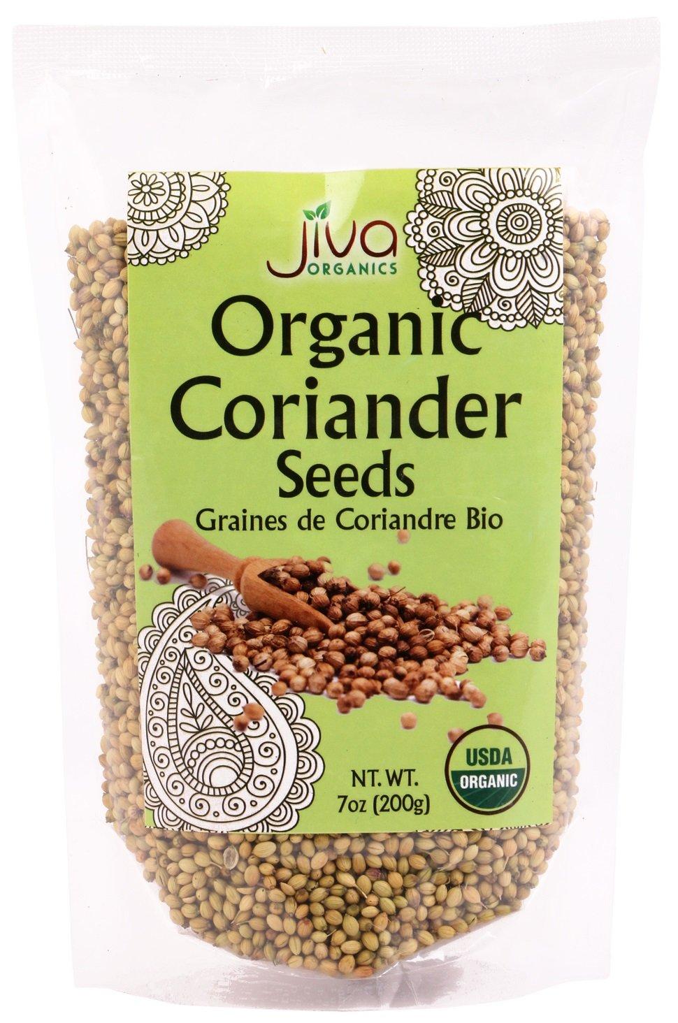 Jiva USDA Organic Coriander Seeds Whole 7 Ounce - New!