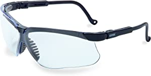 Uvex by Honeywell Genesis Safety Glasses with Uvextreme Anti-Fog Coating, Black TPE Frame
