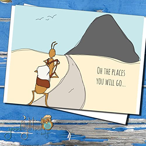 Amazon oh the places you will go cute encouragement card oh the places you will go cute encouragement card hand illustration greeting card m4hsunfo