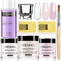 Vrenmol Acrylic Powder and Liquid Set - Acrylic Nail Kit with 3 Colors Acrylic Nail Powder, Professional Monomer Acrylic…