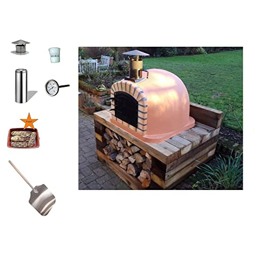 Lisboa Wood-Fired Bread, Meat, Pizza Fish Outdoor Oven 90 cm Real Wood Real Flavor Escape The Indoors ™ Free Pizza Peel