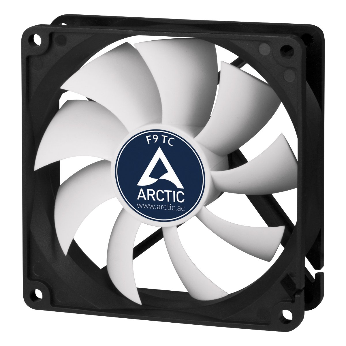 Arctic F9 Tc Temperature Controlled 92 Mm Case Fan Foxconn 12v Wire Diagram Standard Cooler Intelligent Heat Detector Regulates Rpm Push Or Pull