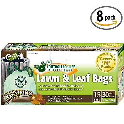 Amazon.com: Verde N 30 unidades Galón Cordón Grande Bolsas ...