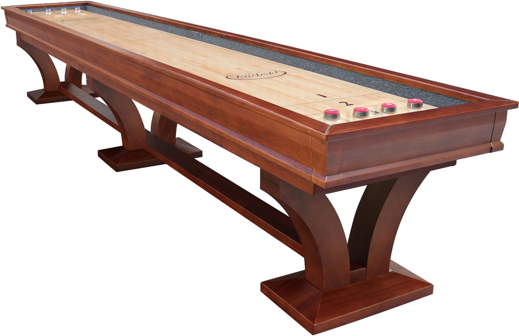 Playcraft Columbia River 16' Pro-Style Shuffleboard Table, Chestnut by Playcraft