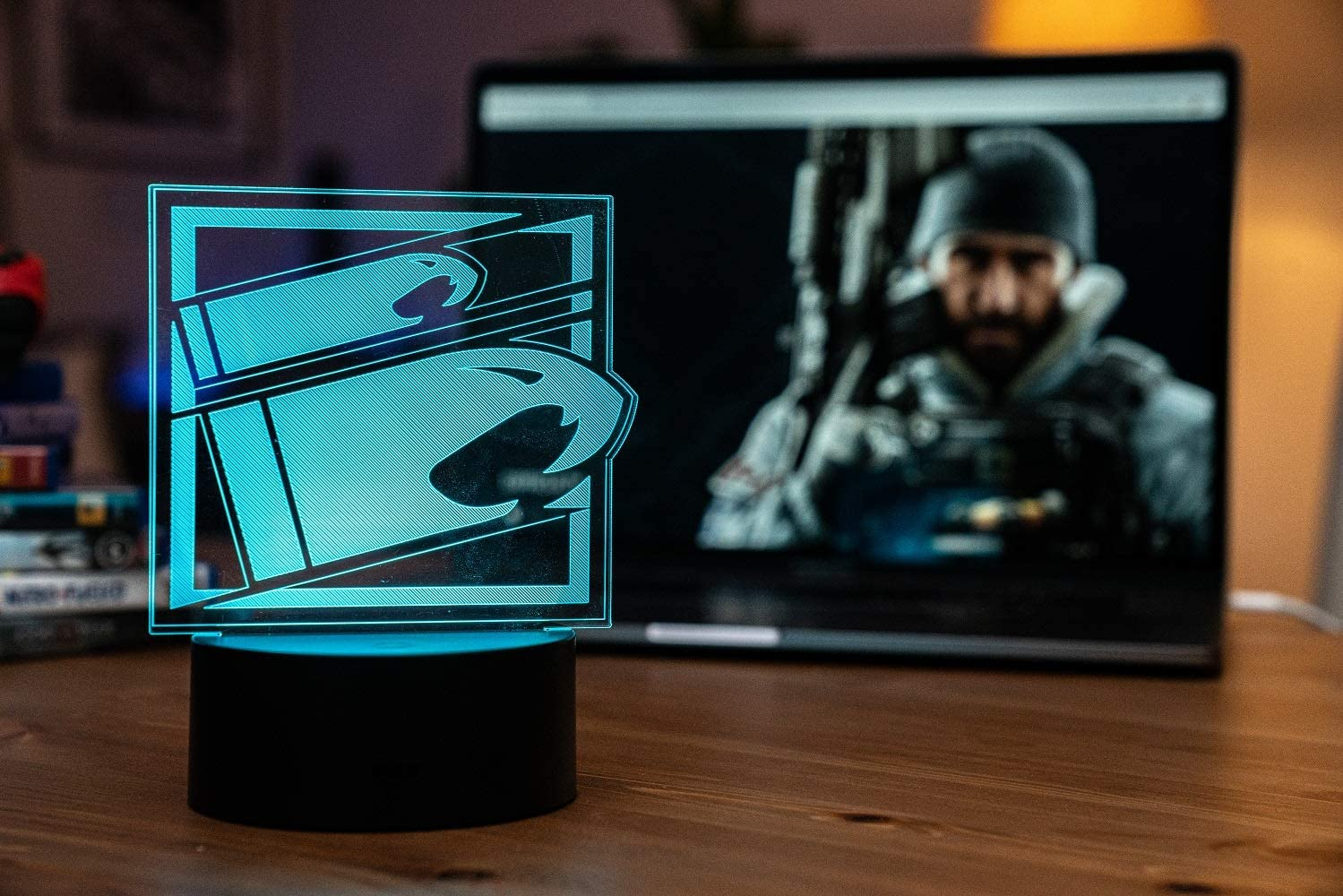Six Siege LED Lamp - Buck Operator - Rainbow Six Siege Decor for The Bedroom or Gaming Studio - Color Changing LED Nightlight Great for Cosplay Photoshoots with Any R6 Character