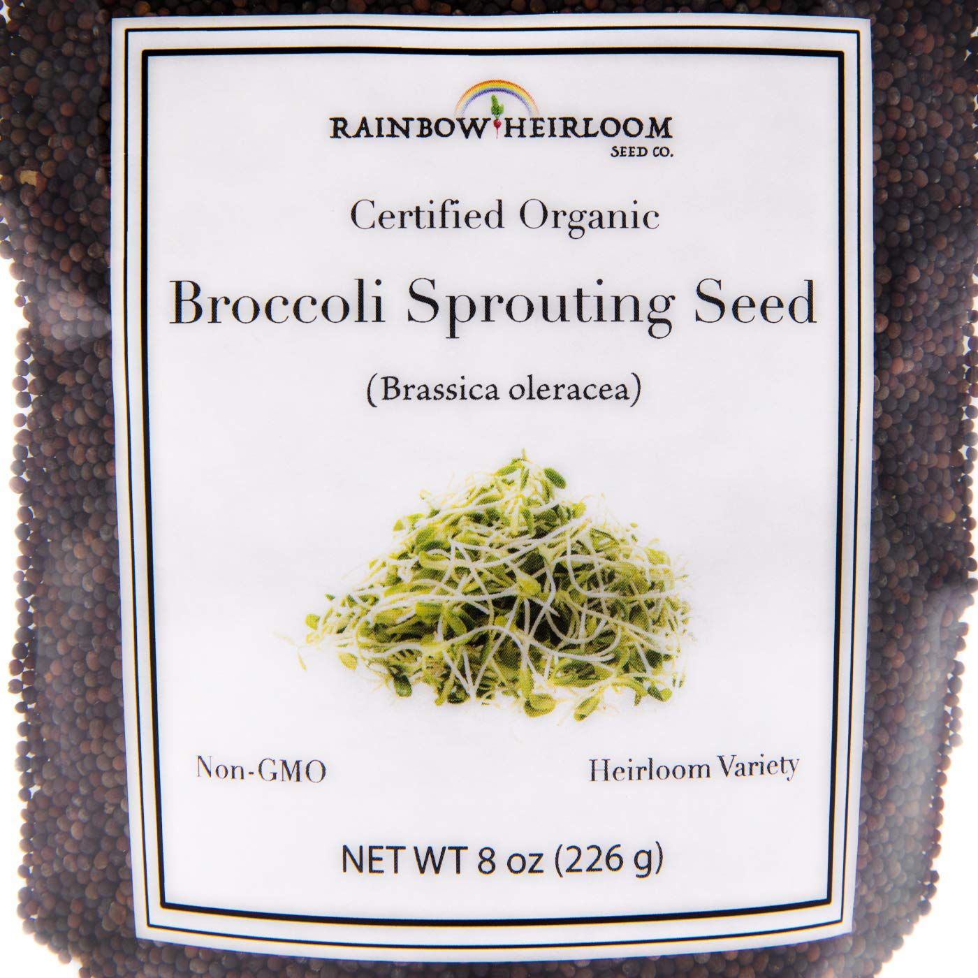 Certified Organic Broccoli Sprouting Seeds for Broccoli Sprouts & Microgreens | Non GMO Seed Heirloom Variety | 1 LB Resealable Bag | Perfect for Sprouting Jar & Seed Tray | Rainbow Heirloom Seed Co. by Rainbow Heirloom Seed Co. (Image #3)