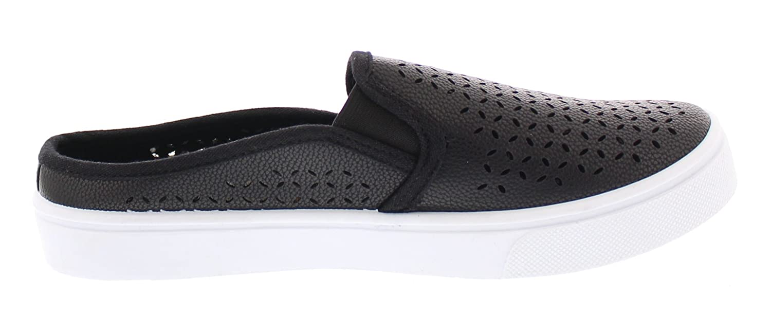 Amazon.com   Gold Toe Womens Addy Perforated Fashion Sneaker, Casual Slip On Clog Flat Mule Slides, Memory Foam Shoes   Mules & Clogs