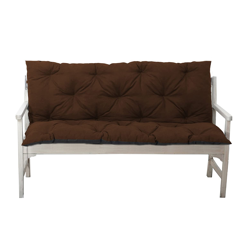 4L Textil Gartenbankauflage Bankauflage Bankkissen Sitzkissen Polsterauflage Sitzpolster (100x60x50, Grau)