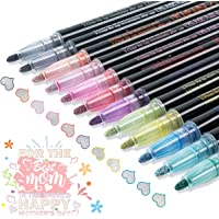 Double Line Outline Pens - 12 Colors Self Outline Metallic Markers Double Line Pen, Outline Markers Pens for Art…