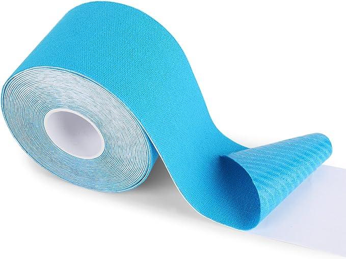FITOP Rollo de Cinta de Kinesiología de Algodón 5 m x 5 cm (Azul ...