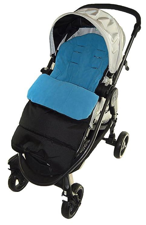 Saco cubrepiernas compatible con carrito de bebé Cybex Agis, color azul