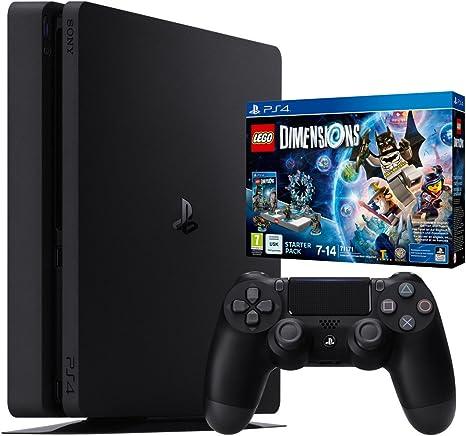 Playstation 4 - Consola Slim (Chasis D) De 1 TB + Lego Dimensions Starter Pack + Mando Dual Shock V2, Color Negro: Amazon.es: Videojuegos