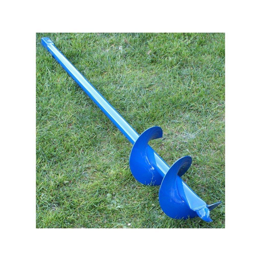 Brunnenbohrer / Erdbohrer zum Selberbohren von Brunnen oder tiefen Löchern, 150 mm / 15 cm x 6 Meter (Stücke 1 m lang), aus Stahl
