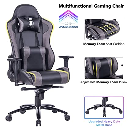 Phenomenal Killabee Big And Tall Gaming Chair With Metal Base Ergonomic Leather Racing Computer Chair High Back Office Desk Chair With Adjustable Memory Foam Unemploymentrelief Wooden Chair Designs For Living Room Unemploymentrelieforg