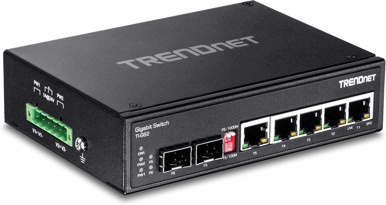 TRENDnet 5-Port Hardened Industrial Gigabit DIN-Rail Switch Limited Lifetime War