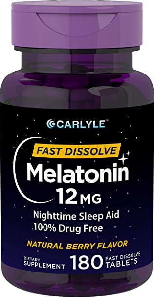 Amazon.com: Carlyle Melatonina 12 mg Disolver rápidamente ...