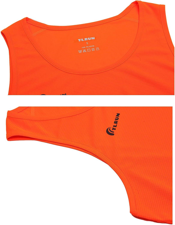 TLRUN Ultra Lightweight Running Singlet for Men Marathon Tank Top Dry Fit Workout Sleeveless Shirts