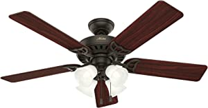 Hunter Fan Company Hunter 53067 Traditional 52``Ceiling Fan from Studio Series collection Dark finish, New Bronze
