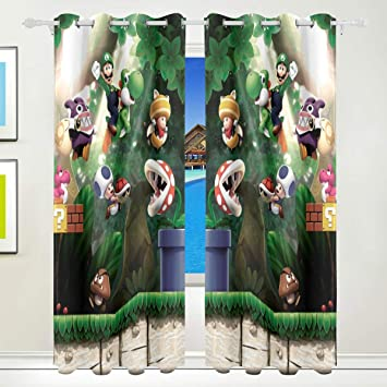 Amazon.com: Olicsley Super Mario Bros Blackout Curtains top ...