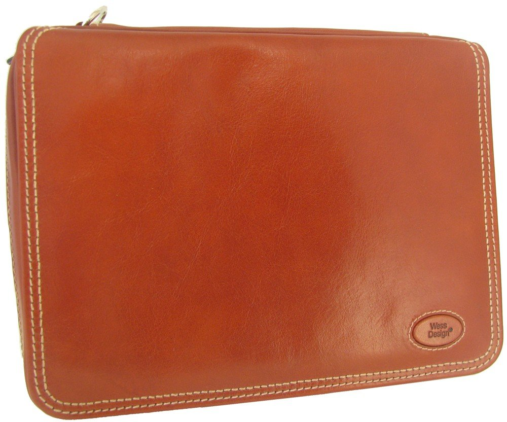 Martin Wess Germany ''Country'' Brown Nappa Leather Vintage Look 5 Pipe Bag Case by Martin Wess