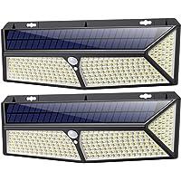 Luz Solar Exterior, [2020 Más Brillante Modelo 288 LED 2500 Lumens 2-Paquete] iPosible 270 °Iluminación Foco Solar con…