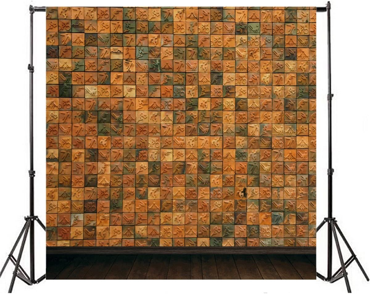 AOFOTO 10x10ft Artistic Backdrops Photography Background Abstract Sports Items Wall Wooden Floors Lovers Toddler Kid Newborn Boy Girl Portrait Scene Photo Shoot Studio Props Video