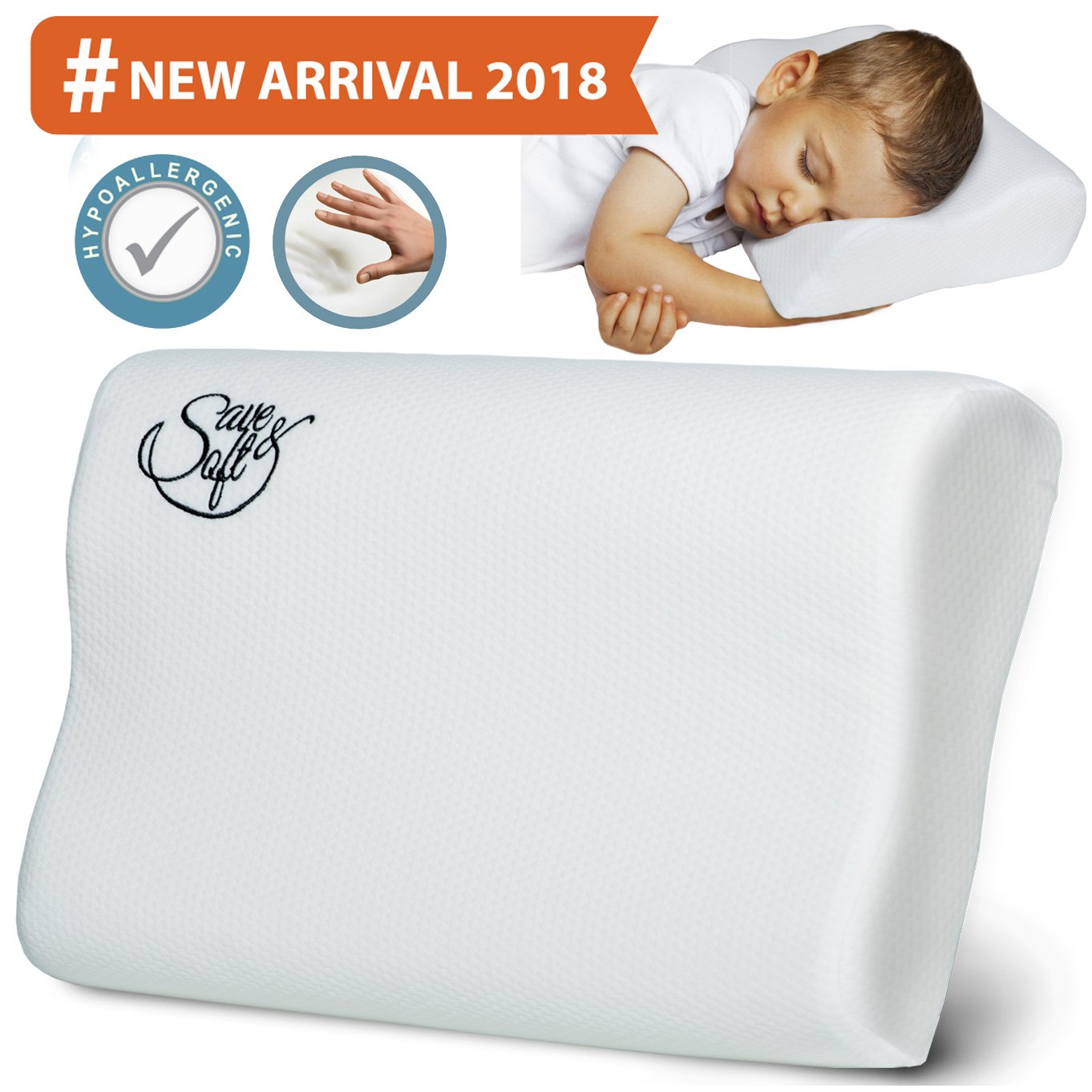 Memory Foam Pillow - Comfortable Cooling Pillow Neck Pain - Cervical Support Pillow Back Stomach Side Sleepers - Bed Orthopedic Sleeping Pillow for Women Kids