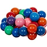 "Delta Education Plastic Coated Magnetic Marble, 5/8"" Diameter, Assorted Colors (Pack of 36)"