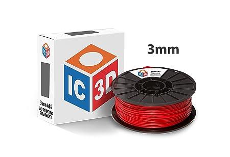 ic3d alta calidad rojo 3 mm ABS Filamento Impresora 3d ...
