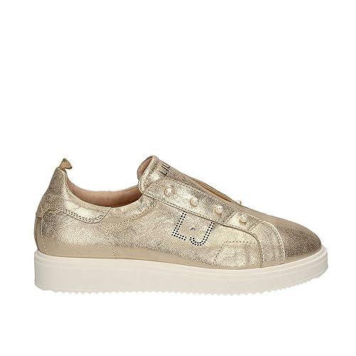 Liu jo junior - Zapatillas para niño, color dorado, talla 36 EU: Amazon.es: Zapatos y complementos