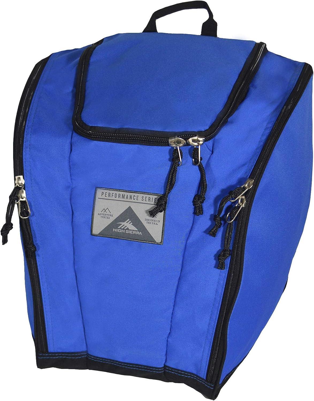 High Sierra Ski/Snowboard Boot Bag Backpack, One Size, Vivid Blue/Black