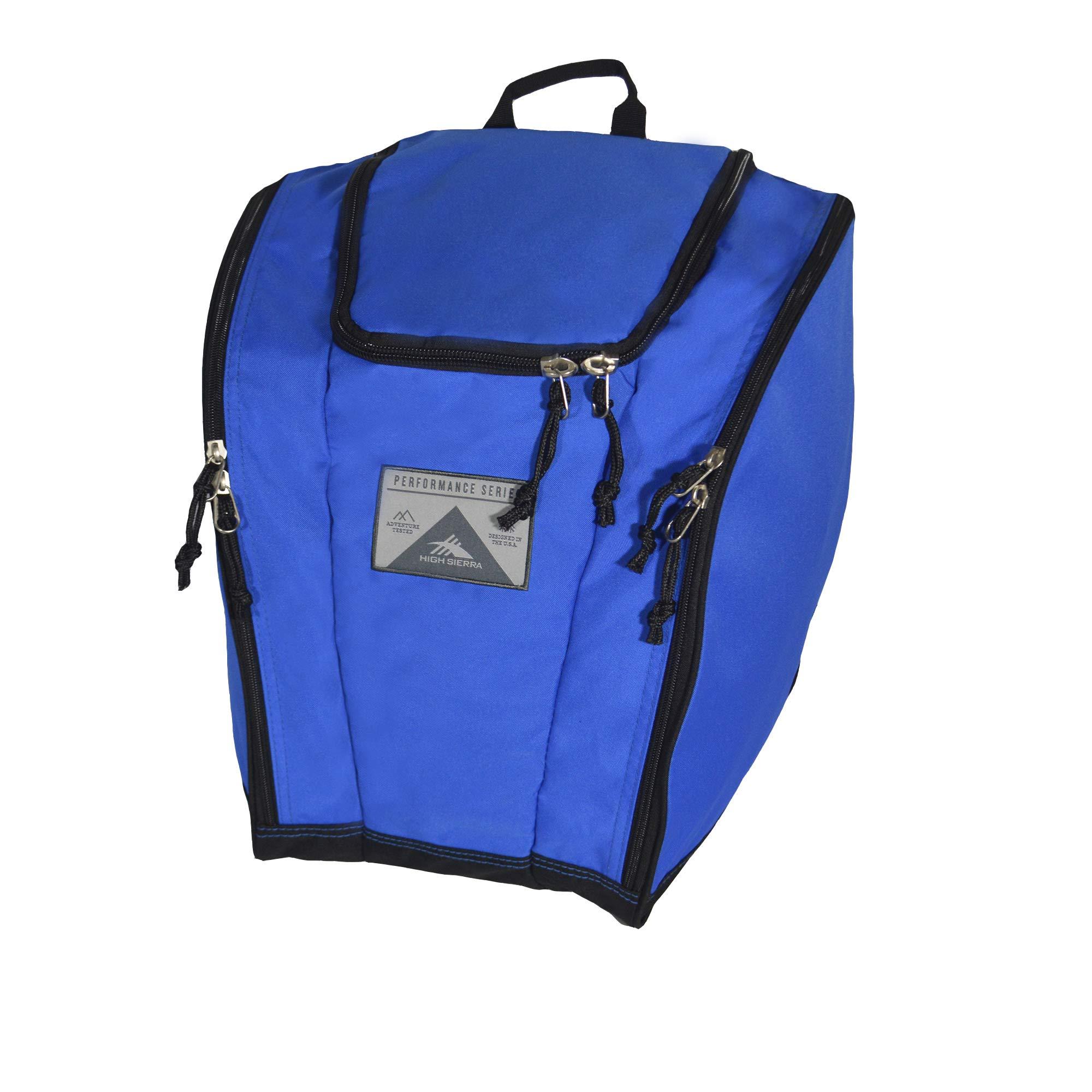 High Sierra Ski Boot Trapezoid Boot Bag, Vivid Blue/Black