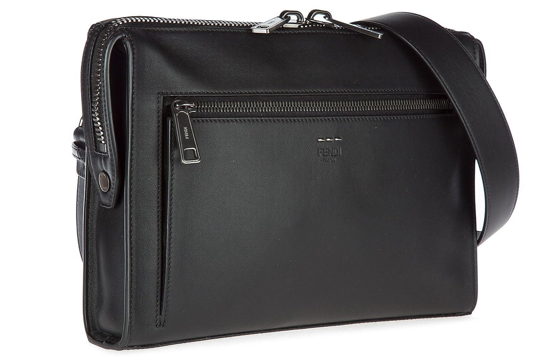 802410f78b5d Fendi men s leather cross-body messenger shoulder bag black  Amazon.co.uk   Shoes   Bags