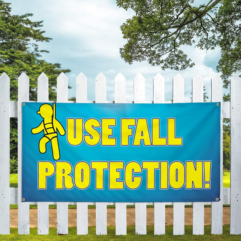 Advertising Printing Business Outdoor Weatherproof Industrial Yard Signs 8 Grommets 48x96Inches Vinyl Banner Multiple Sizes Use Fall Protection