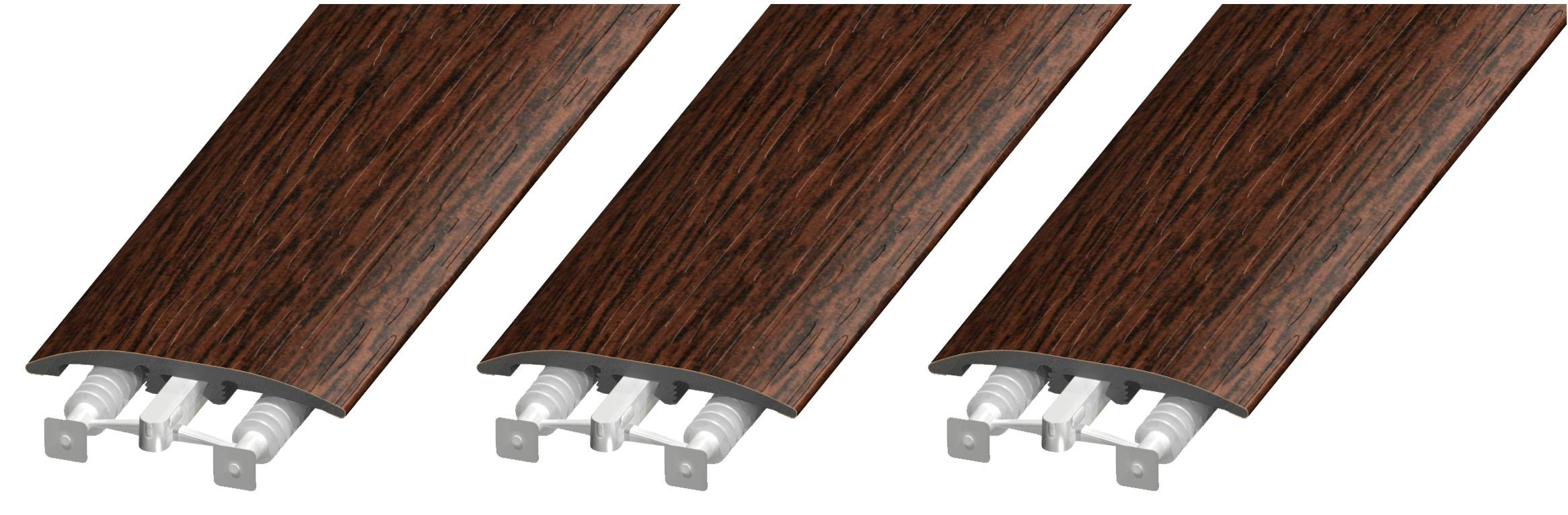 Cal-Flor MD11023 Unitrim Waterproof 3-in1 Floor Molding 2'' Wide x 94'' Long 3-in-1 Laminate, Wood, Wpc, Lvt and Vinyl, 3 Pack, Mahogany, 3 Piece by Cal-Flor