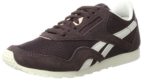 Reebok Women s Classic Nylon Slim Ep Low-Top Sneakers  Amazon.co.uk ... 10f25bd55