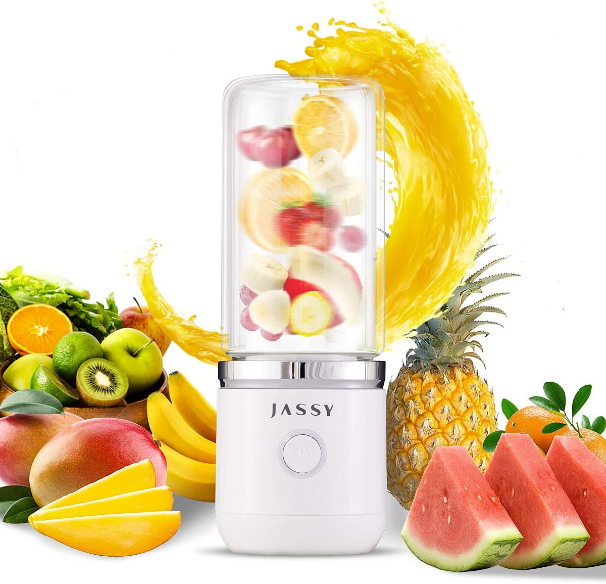 Portable Blender Personal Blender & Smoothie Blenders Fruit Juicer with Rechargeable with USB,BPA Free with
