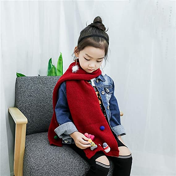 Girls Boys Fashion Winter Warm Cotton Collar O-Ring Neck Scarves Digood Suit for 2-10 Years Old Kids