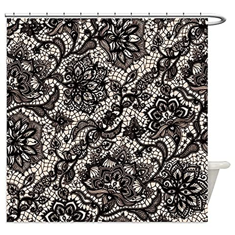 Vanfan Shower Curtains abstract seamless lace pattern with flowers and butterflies infinitely wallpaper decoration 346753226 For - Madison Florals Wallpaper