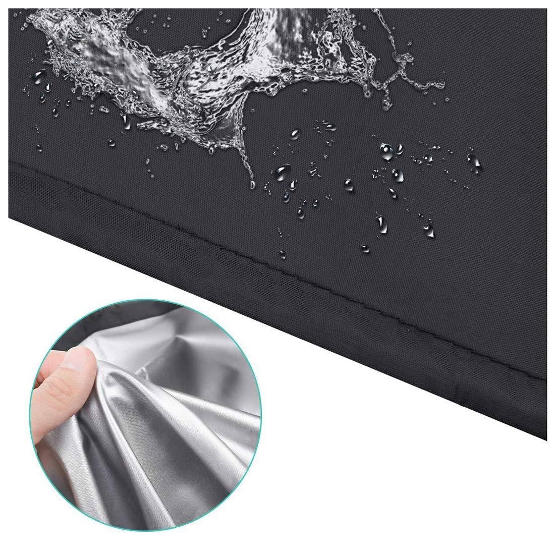 120x120x74cm Traspirante Impermeabile Colore Nero Rettangolare Resistente ai Raggi UV Ann-Garden Furniture Covers Copertura per mobili da Giardino in Tessuto Oxford