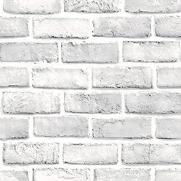 Tuscom 3D White Brick Wall Brick |Simulation Wall Sticker Interior Wall  Creative Decorative | Living