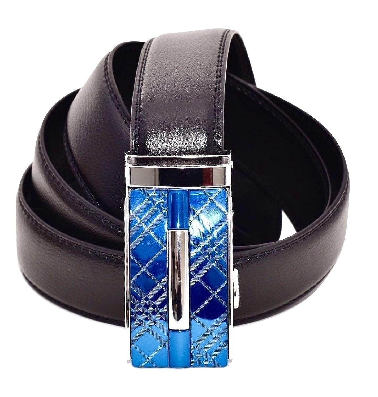 Delicado CUERO DE LUJO Cinturones de hebilla automática en 13 estilos  diferentes Totalmente ajustable a cualquier 0e374a07d699