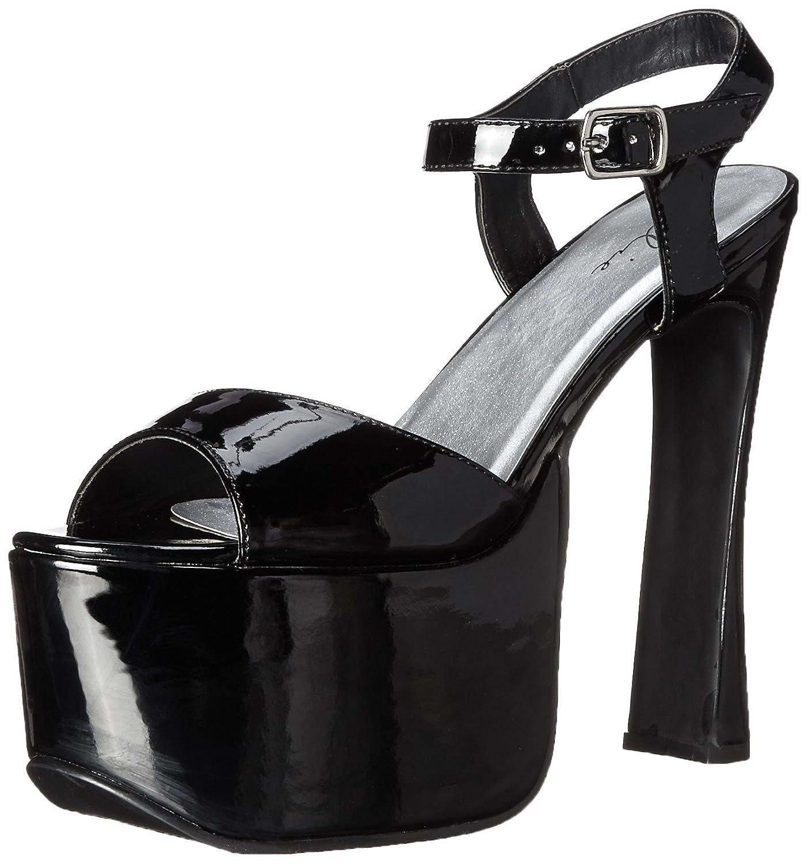 Ellie Shoes Women's 656-March Platform Sandal B000B59RGM 6 B(M) US|Black