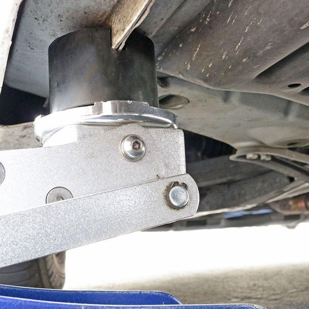 Sedeta Black Jack Pad Slotted Frame Rubber Disc Pads Universal Car Vehicle Frame Rail Floor Jack Guard Adapter Universal Car Vehicle Frame Rail Floor Jack Guard Adapter