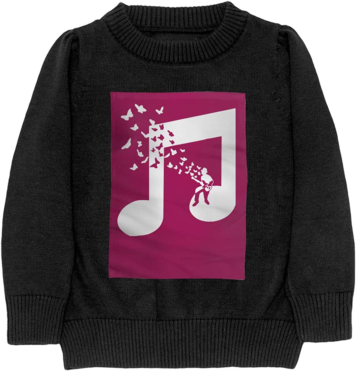 I Play Bass Guitar Music Note Butterflies Musician Cool Teenager Boys /& Girls Unisex Sweater Keep Warm