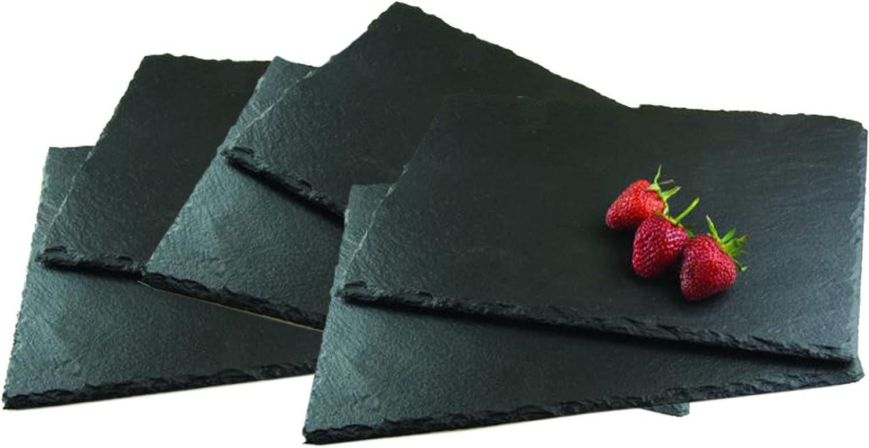 Get Goods Set de Table en Ardoise 30 x 20 x 0,6 cm