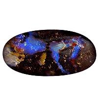 18.08 ct Fancy Shape (26 x 13 mm) Play of Colors Australian Koroit Boulder Opal Natural Loose Gemstone